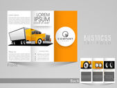 Professional trifold for transport business
