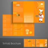 Stylish trifold flyer or menu card for restaurant