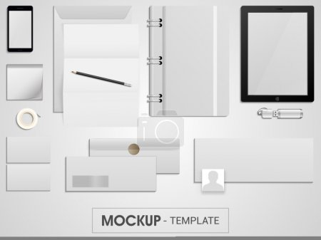 Blank corporate identity kit for business.