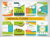 Stylové lékařských Flyers, šablony nebo brožury kolekce