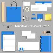 Blank corporate identity kit or mock up for your business including Letterhead File Folder Envelope Visiting Cards CD and Stationery items