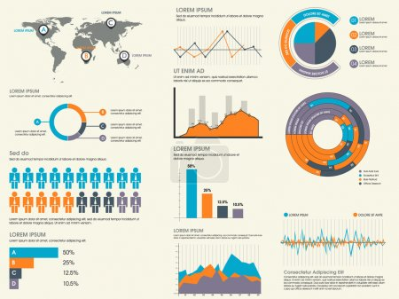 Collection of business infographics elements.