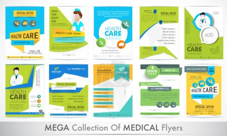 Big set of Medical Flyers.