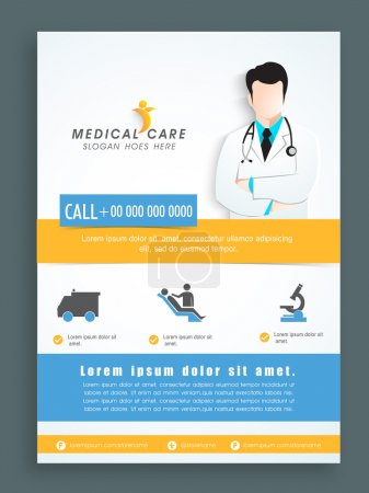 Illustration for Stylish template, banner or flyer design for Health and Medical. - Royalty Free Image