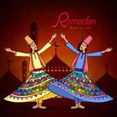Ramadan Kareem celebration with dervish