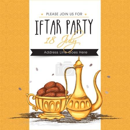 Invitation card for Ramadan Kareem Iftar Party celebration.