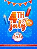 Sale poster or banner for American Independence Day celebration
