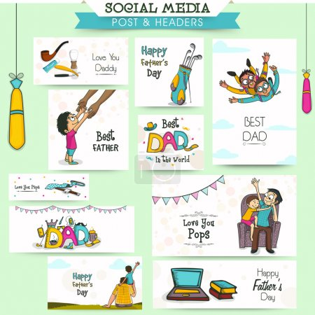 Social media ads, heade or banner for Father's Day.