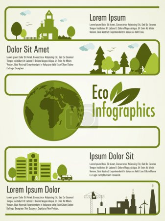 Ecological infographic template presentation.