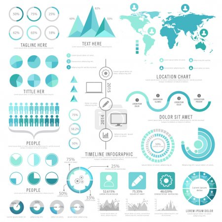 Big set of creative business infographic elements.