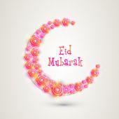 Květiny se půlměsíc oslavu Eid Mubarak