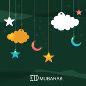 Hanging moons with stars for Eid celebration