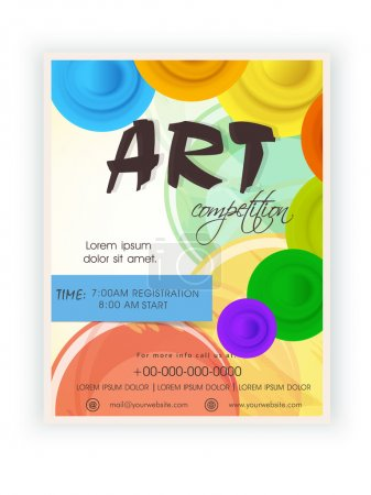 Template, brochure or flyer design for art competition.