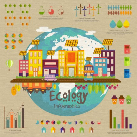 Creative ecology infographic template layout.