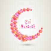 Eid mubarak oslava s barevnými půlměsíc