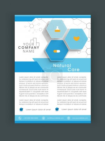 Illustration for Stylish Natural Care flyer, banner or template design. - Royalty Free Image