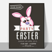 Template brochure or flyer design for Easter party