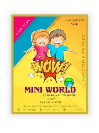 Template,  brochure or flyer design for mini world.