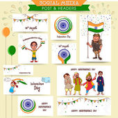 Social media ads or post for Independence Day celebration