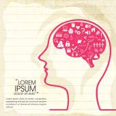 Concept of human brain infographic
