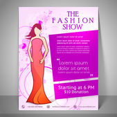 Stylish brochure flyer and template for fashion show