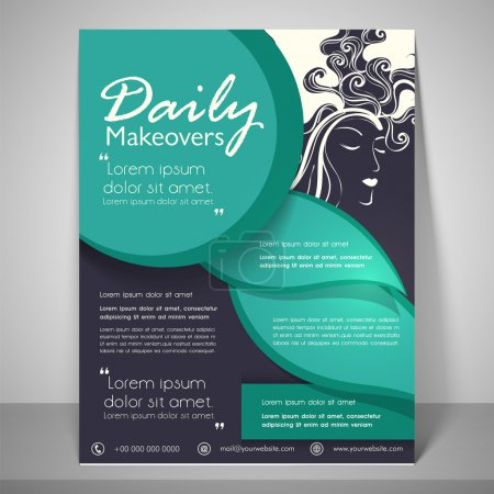 Stylish flyer, banner and template.