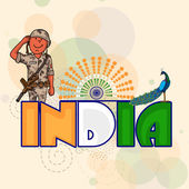 Saluting soldier for Indian Independence Day