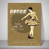 Flyer template and banner for dance audition