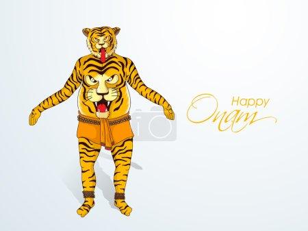 Happy Onam celebration with tiger dance.