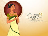 Young girl for South Indian festival Onam