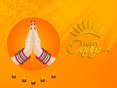 Greeting card for South Indian festival Onam