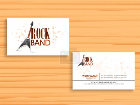 Stylish business or visiting card for music company.