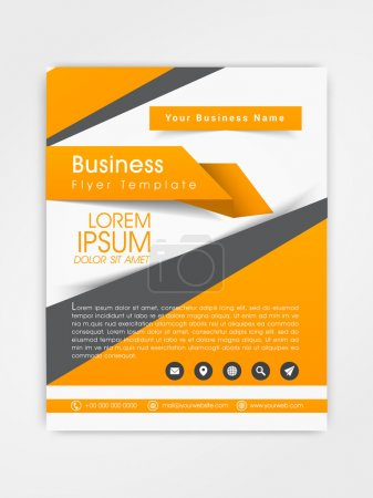 Professional business flyer or template design.
