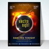 Electro night party celebration flyer