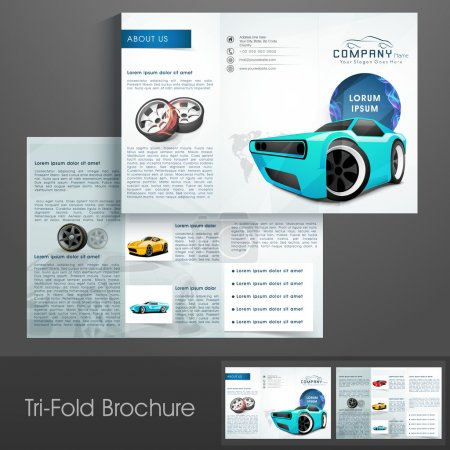 Stylish trifold for Automobile Sector.