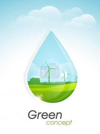 Template, banner or flyer for Go Green concept.