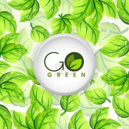 Sticky design for Go Green.