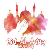 Eid-Al-Adha celebration with mosque.