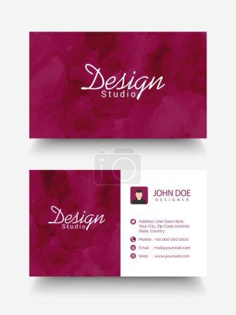 Creative horizontal business or visiting card.
