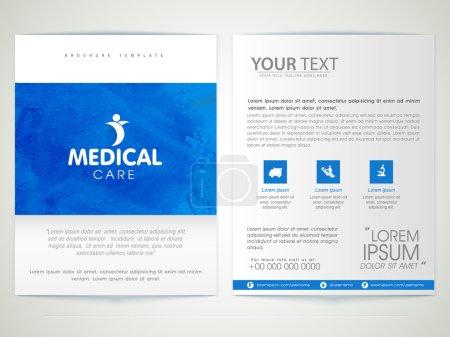 Medical Care Brochure, Template or Flyer design.