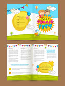 Kids Summer Fest Two page Brochure Template or Flyer