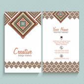 Floral vertical business card or visiting card set