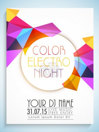 Illustration pour Flyer décoré abstrait coloré, modèle ou bannière pour Party Night . - image libre de droit