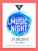 Music Night flyer template or banner