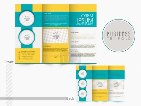 Photo for Front and inner page presentation of professional Trifold Brochure, Template or Flyer design with space for your images. - Royalty Free Image