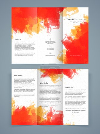 Abstract Trifold Brochure, Template or Flyer design.