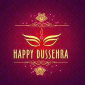 Beautiful Greeting card for Happy Dussehra