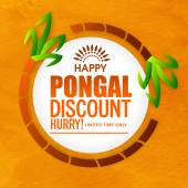 Sale sticker or label for Pongal celebration.