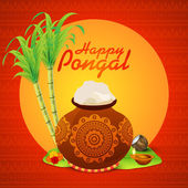 Traditional mud pot for Happy Pongal celebration.