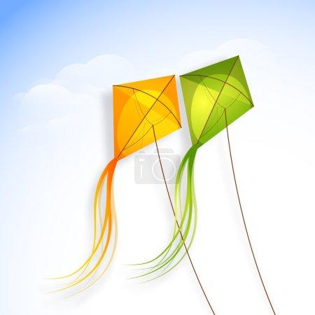Glossy Kites for Indian Republic Day celebration.